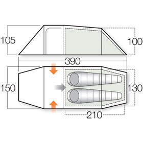 Vango F10 Xenon UL 2+ Tent Alpine Green